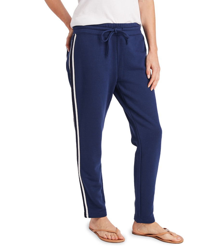 Vineyard Vines Side Stripe Knit Jogger Deep Bay