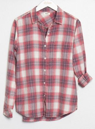 Dylan Sunwashed Plaid Shirt Red