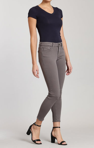 Mavi Adriana Ankle Super Skinny in Granite Grey Twill