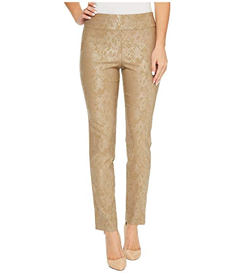 Krazy Larry Taupe Python Pull-On Ankle Pant