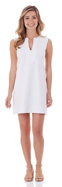 Jude Connally Teagan Ponte Shift Dress in White