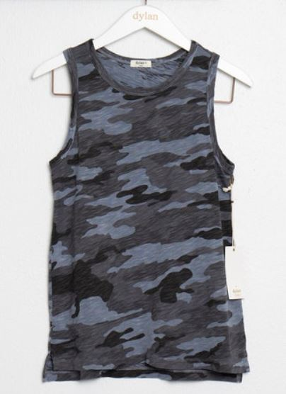 Dylan Camo Classic Sleeveless Tee Vintage Navy