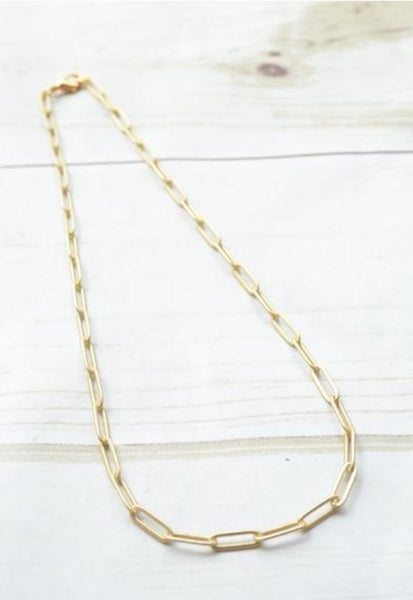 "Virtue 16"" Paperclip Necklace"
