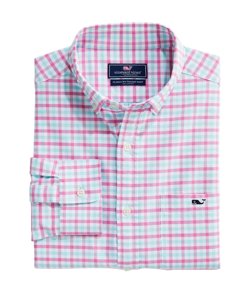 Vineyard Vines Classic Fit Permit Cotton Performance Tucker Button-Down Shirt Sorbet