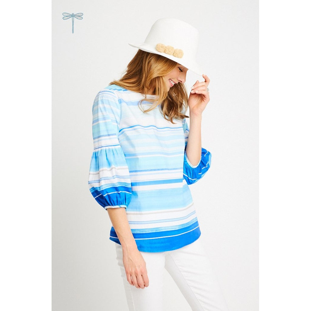 Tyler Boe Natalie Watercolor Stripe Shirt