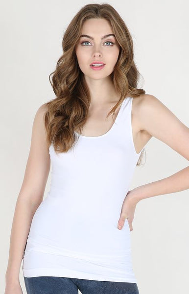 Nikibiki Plain Jersey Tank Top White