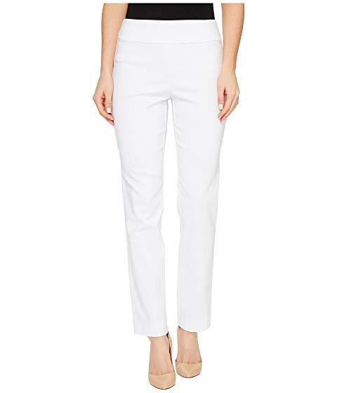 ea743a7f0e Krazy Larry White Pique Pull-On Ankle Pant