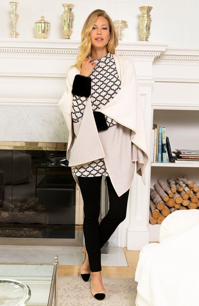 Tyler Boe Double Sided Cotton/Cashmere Wrap Blush