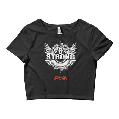Be Strong Crop Tee - Power Words Apparel