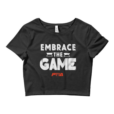 Embrace The Game Crop Tee - Power Words Apparel