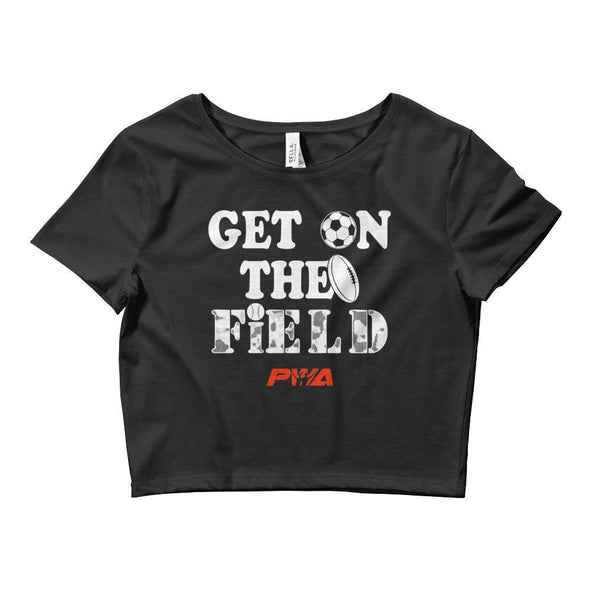 Get On The Field Crop Tee - Power Words Apparel