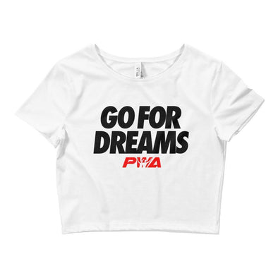 Go For Dreams Crop Tee - Power Words Apparel
