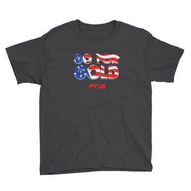 Go for gold Youth Short Sleeve T-Shirt - Power Words Apparel
