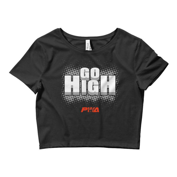 Go High Crop Tee - Power Words Apparel