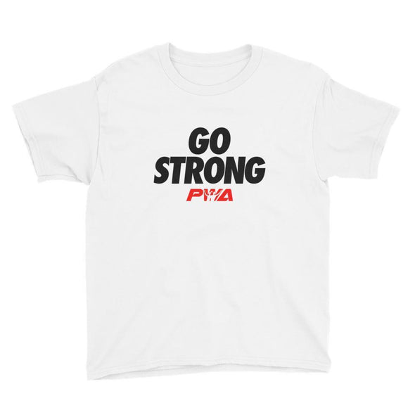 Go strong Youth Short Sleeve T-Shirt - Power Words Apparel