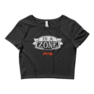 In A Zone Crop Tee - Power Words Apparel