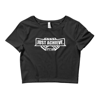 Just Achieve Crop Tee - Power Words Apparel