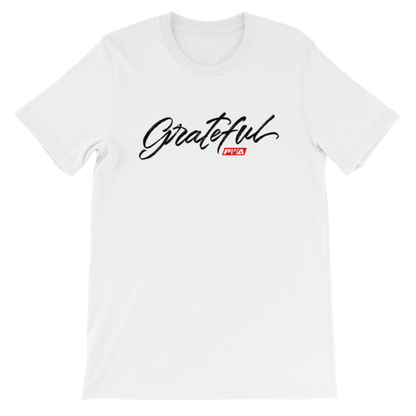 Grateful Short-Sleeve Unisex T-Shirt - Power Words Apparel