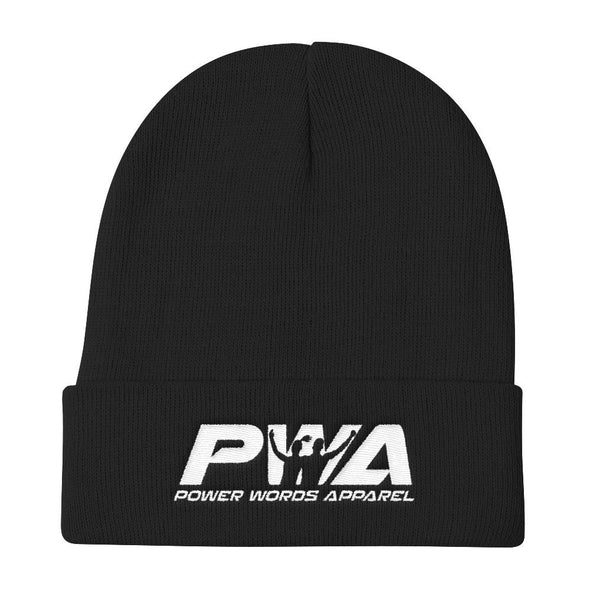 PWA Knit Beanie - Power Words Apparel