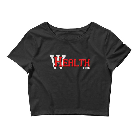 HealthWealth Women's Crop Tee - Power Words Apparel