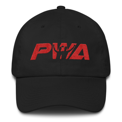 PWA Red Cotton Dad Cap - Power Words Apparel