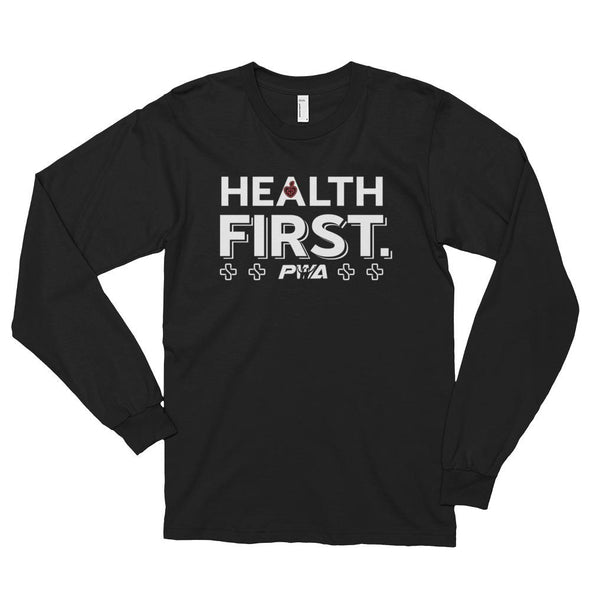 Health First Long sleeve t-shirt (unisex) - Power Words Apparel