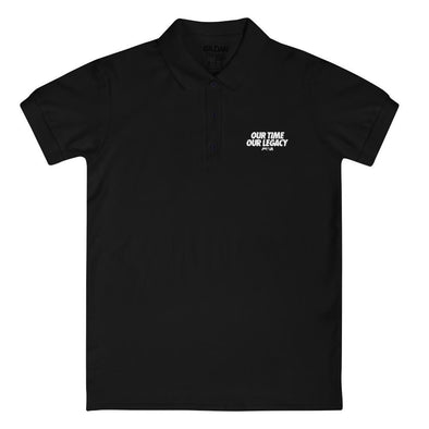 Our Time, Our Legacy Embroidered Women's Polo Shirt - Power Words Apparel