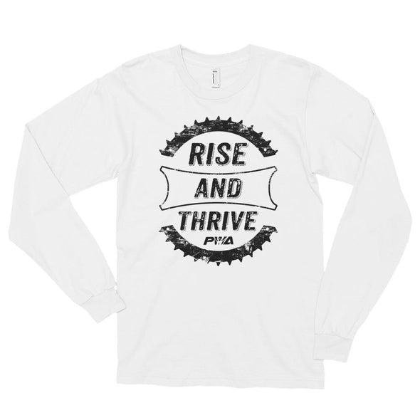 Rise and Thrive Long sleeve t-shirt (unisex) - Power Words Apparel