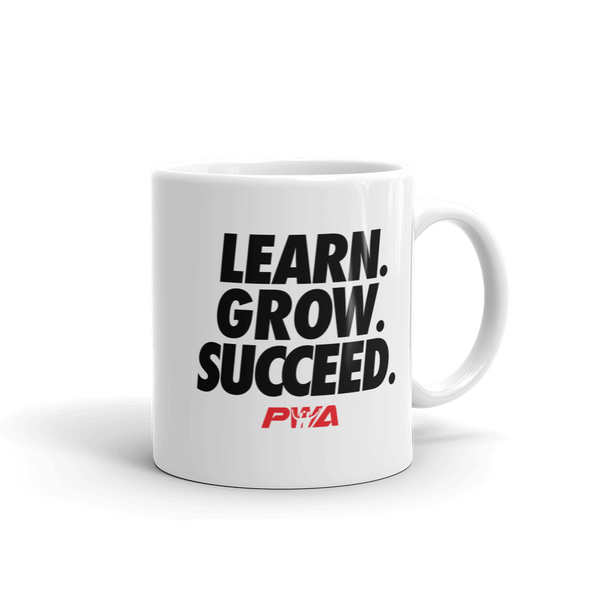 Learn Grow Succeed Mug - Power Words Apparel