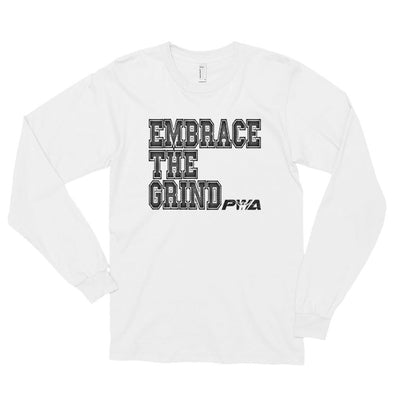Embrace the Grind Long sleeve t-shirt (unisex) - Power Words Apparel