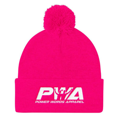 PWA Pom Pom Knit Cap - Power Words Apparel