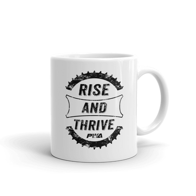 Rise & Thrive Mug - Power Words Apparel