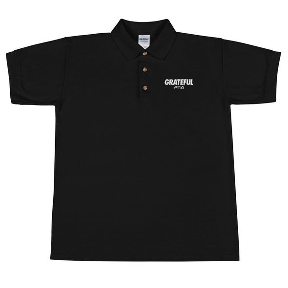 Grateful Men's Polo Shirt - Power Words Apparel