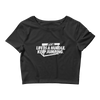 Life is a hurdle Women's Crop Tee - Power Words Apparel