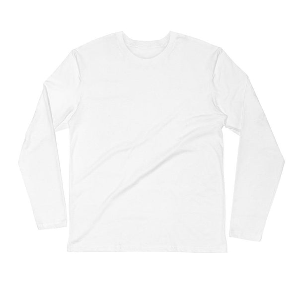 Grinder Men's Long Sleeve Fitted Crew - Power Words Apparel