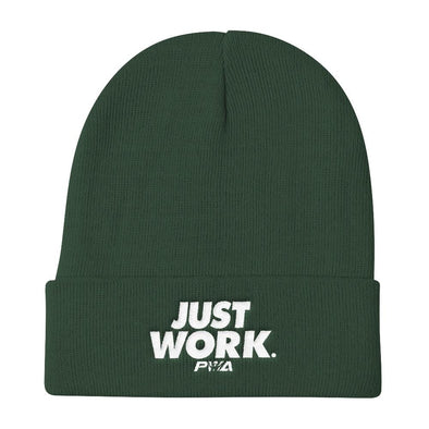 Just Work Knit Beanie - Power Words Apparel