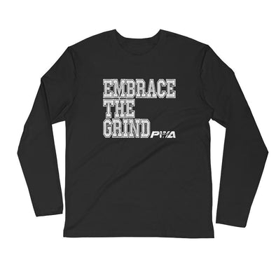 Embrace the Grind Men's Long Sleeve Fitted Crew - Power Words Apparel