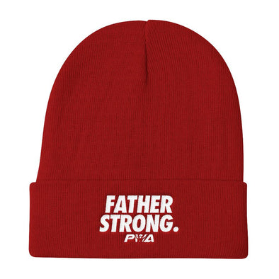 Father Strong Knit Beanie - Power Words Apparel