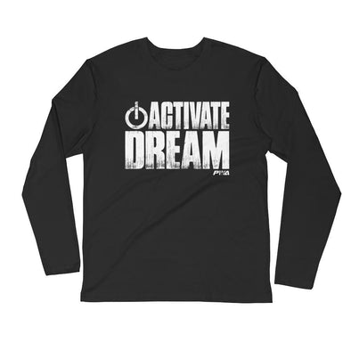 Activate Dream Men's Long Sleeve Fitted Crew - Power Words Apparel
