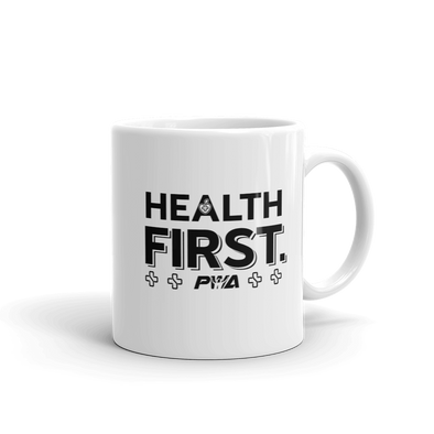 Health First Mug - Power Words Apparel