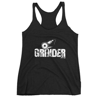 Grinder Women's Racerback Tank - Power Words Apparel
