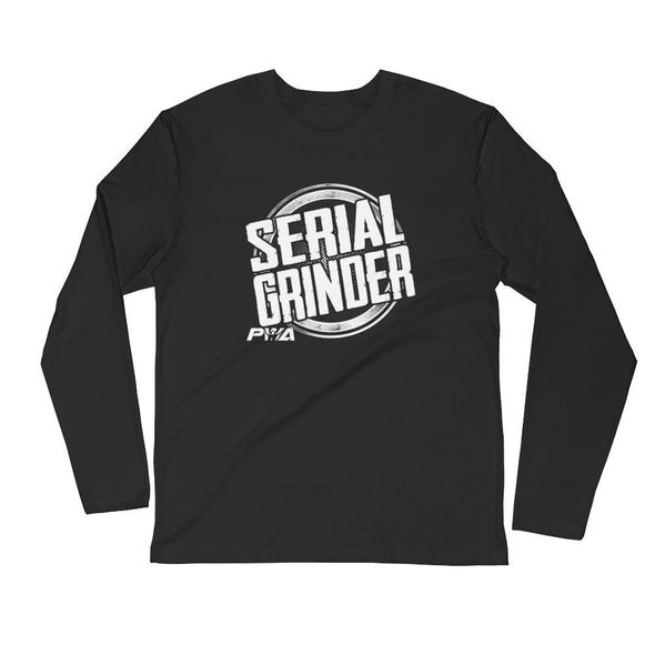 Serial Grinder Men's Long Sleeve Fitted Crew - Power Words Apparel