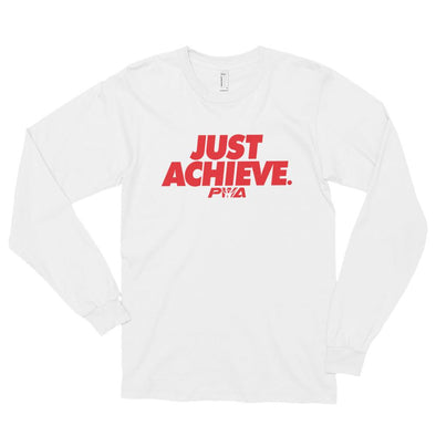 Just Achieve Long sleeve t-shirt (unisex) - Power Words Apparel