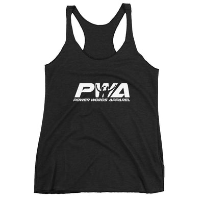 PWA Women's Racerback Tank - Power Words Apparel