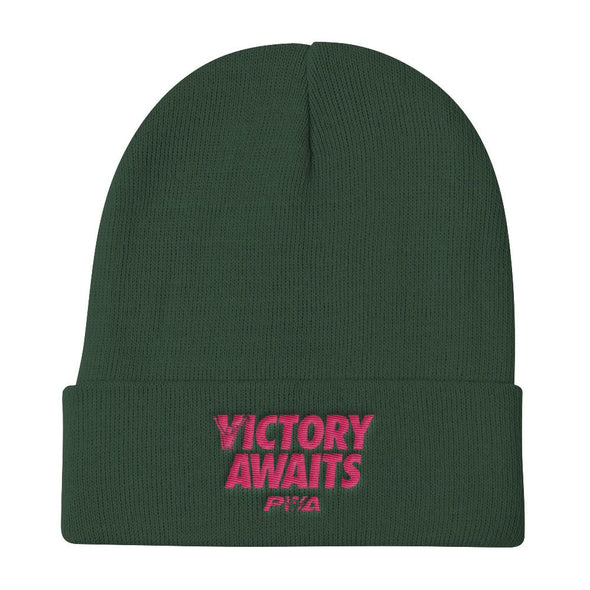 Victory Awaits Women's Knit Beanie - Power Words Apparel