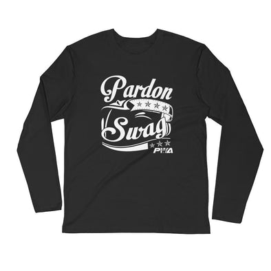 Pardon Swag Men's Long Sleeve Fitted Crew - Power Words Apparel