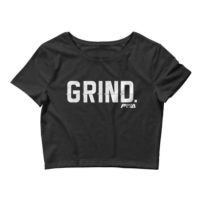 GRIND Women's Crop Tee - Power Words Apparel