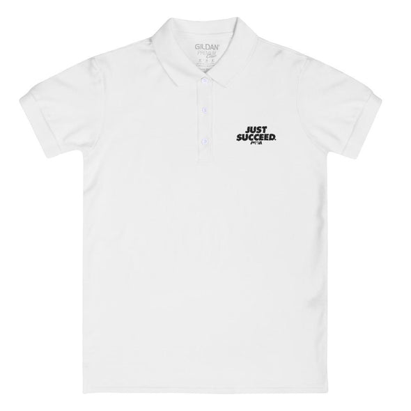 Just Succeed Women's Polo Shirt - Power Words Apparel