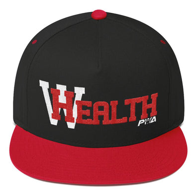 HealthWealth Flat Bill Cap - Power Words Apparel