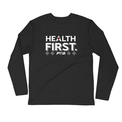 Health First Men's Long Sleeve Fitted Crew - Power Words Apparel